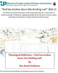 cover of theological reflection talk by Rev David Arblaster