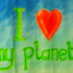 I love my planet motif