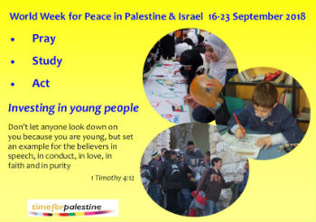 details about the world week of prayer for Palestine Israel