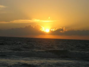 photo of sunset over sea