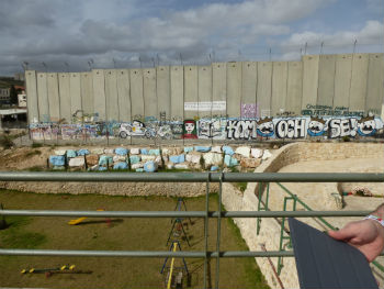 picture of the separation wall
