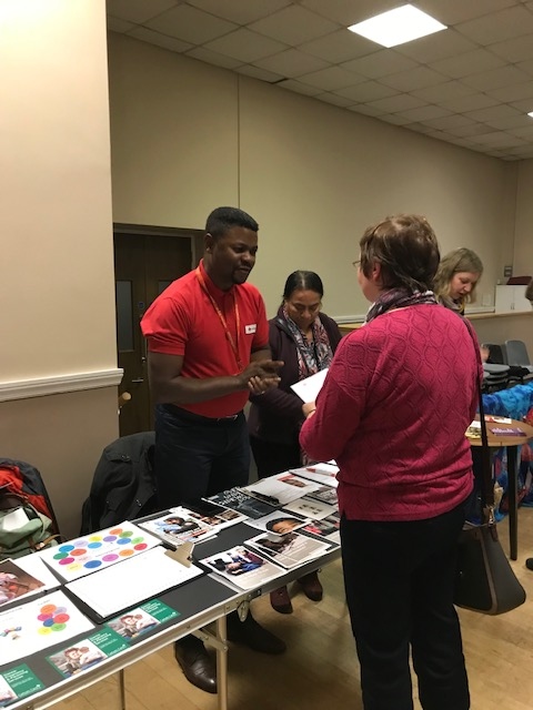 British red Cross stall at meeting