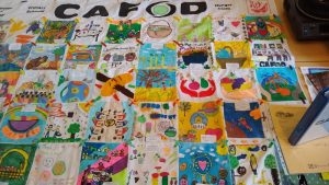 a Hunger cloth made by primary school children for CAFOD