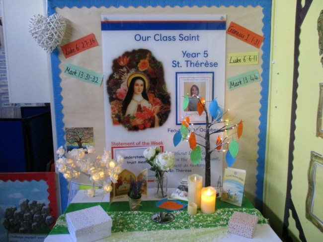photo of a display about prayers