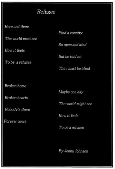 a poem about refugees