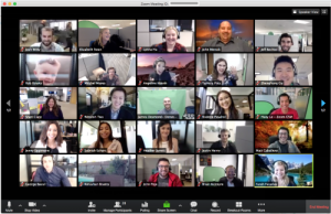 screenshot of zoom video conference