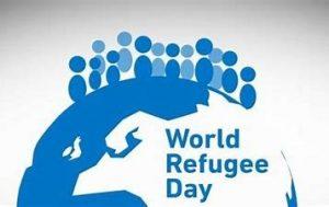 world refugee day logo